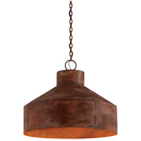 Rise & Shine 5 Light 32 inch Rust Patina Pendant Ceiling Light