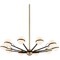 Ace 50 inch Textured Bronze and Brushed Brass Chandelier Ceiling Light