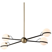 Troy Lighting F5307 Ace 50 inch Textured Bronze and Brushed Brass Pendant Ceiling Light