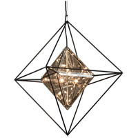 Troy Lighting Epic - Pendant - 24 inchW - Forged Iron Finish - Plated Topaz Glass F5326