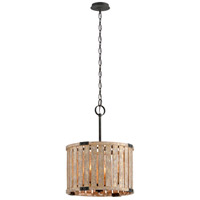 Troy Lighting F5335 Stix 4 Light 18 inch Antique Gold Leaf Pendant Ceiling Light