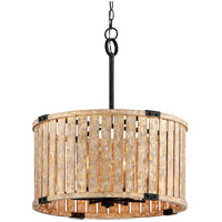 Troy Lighting F5336 Stix 6 Light 24 inch Antique Gold Leaf Pendant Ceiling Light