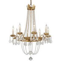 Troy Lighting F5366 Viola 8 Light 28 inch Distressed Gold Leaf Chandelier Ceiling Light