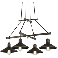 McCoy 4 Light 34 inch Vintage Bronze Pendant Ceiling Light