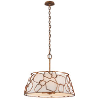 Troy Lighting Coda - Pendant - 26 inch - Antique Copper Leaf Finish - Hardback Linen F5465