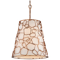 Coda 8 Light 24 inch Antique Copper Leaf Pendant Ceiling Light