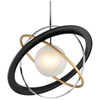 Troy Lighting F5514 Apogee LED 40 inch Bronze with Gold Leaf and Polished Stainless Pendant Ceiling Light