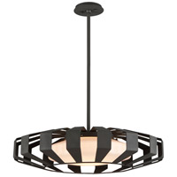 Troy Lighting F5614 Impulse LED 26 inch Textured Bronze Pendant Ceiling Light, Opal White Glass