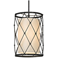 Palisade 4 Light 18 inch Aged Pewter Pendant Ceiling Light, Linen Hardback Shade