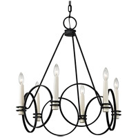 Troy Lighting F5956 Juliette 6 Light 26 inch Country Iron Chandelier Ceiling Light