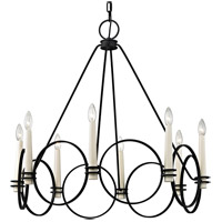 Juliette 8 Light 32 inch Country Iron Chandelier Ceiling Light
