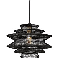 Troy Lighting F6015 Kokoro 1 Light 15 inch Kokoro Bronze Pendant Ceiling Light