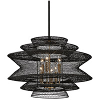 Kokoro 6 Light 23 inch Kokoro Bronze Pendant Ceiling Light