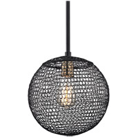 Troy Lighting F6021 Tsuki 1 Light 10 inch Kokoro Bronze Pendant Ceiling Light