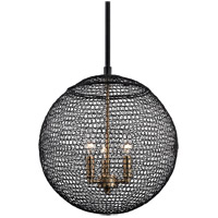 Troy Lighting F6023 Tsuki 3 Light 14 inch Kokoro Bronze Pendant Ceiling Light