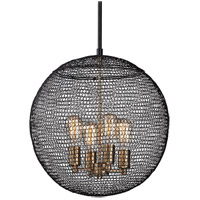 Troy Lighting F6024 Tsuki 4 Light 18 inch Kokoro Bronze Pendant Ceiling Light