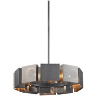 Troy Lighting F6045 Impression 10 Light 28 inch Graphite and Satin Nickel Pendant Ceiling Light