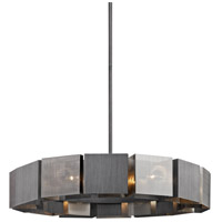 Troy Lighting F6046 Impression 14 Light 36 inch Graphite and Satin Nickel Pendant Ceiling Light