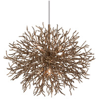 Sierra 6 Light 32 inch Distressed Bronze Pendant Ceiling Light