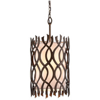 Troy Lighting F6104 Mai Tai 4 Light 14 inch Cottage Bronze Pendant Ceiling Light, Linen Hardback Shade