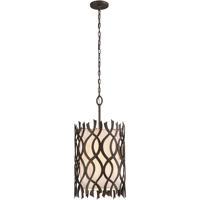 Troy Lighting F6106 Mai Tai 6 Light 18 inch Cottage Bronze Pendant Ceiling Light, Linen Hardback Shade