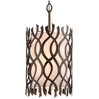 Troy Lighting F6108 Mai Tai 8 Light 22 inch Cottage Bronze Pendant Ceiling Light, Linen Hardback Shade