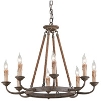 Troy Lighting F6116 Cyrano 8 Light 28 inch Earthen Bronze Chandelier Ceiling Light