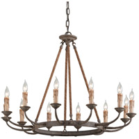 Cyrano 12 Light 36 inch Earthen Bronze Chandelier Ceiling Light