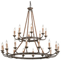 Cyrano 24 Light 48 inch Earthen Bronze Chandelier Ceiling Light