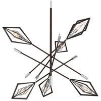 Troy Lighting F6146 Javelin 6 Light 42 inch Bronze and Polished Stainless Pendant Ceiling Light