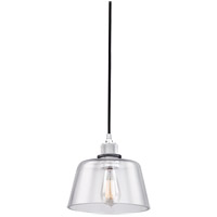 Troy Lighting F6152 Audiophile 1 Light 10 inch Old Silver and Polished Aluminum Mini Pendant Ceiling Light, Clear Glass