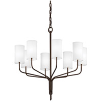 Juniper 8 Light 32 inch Juniper Bronze Chandelier Ceiling Light