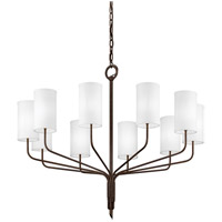 Juniper 10 Light 42 inch Juniper Bronze Chandelier Ceiling Light