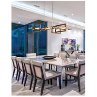 Troy Lighting F6185 Enigma 5 Light 44 inch Bronze with Polished Stainless Linear Pendant Ceiling Light  alternative photo thumbnail