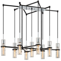 Xavier 9 Light 44 inch Vintage Iron Linear Pendant Ceiling Light