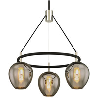 Troy Lighting F6213 Iliad 3 Light 26 inch Carbide Black with Polished Nickel Pendant Ceiling Light