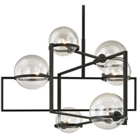 Troy Lighting F6226 Elliot 6 Light 30 inch Textured Black Pendant Ceiling Light
