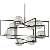 Elliot 8 Light 44 inch Textured Black Pendant Ceiling Light