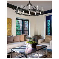 Troy Lighting F6237 Sutton 12 Light 44 inch Textured Black Chandelier Ceiling Light alternative photo thumbnail