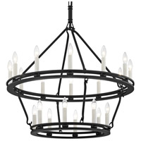 Sutton 20 Light 32 inch Textured Black Chandelier Ceiling Light