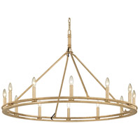 Sutton 12 Light 44 inch Champagne Silver Leaf Chandelier Ceiling Light