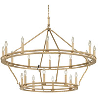 Troy Lighting F6249 Sutton 20 Light 44 inch Champagne Silver Leaf Chandelier Ceiling Light