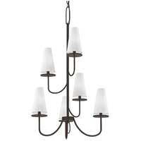 Troy Lighting F6297 Marcel 6 Light 28 inch Pompeii Bronze Chandelier Ceiling Light