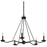 Troy Lighting F6305 Sawyer 5 Light 40 inch Forged Iron Chandelier Ceiling Light