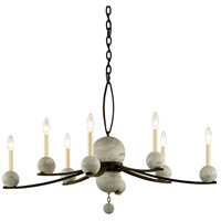 Troy Lighting F6338 Tallulah 8 Light 38 inch Natural Rust with Raw Concrete Chandelier Ceiling Light