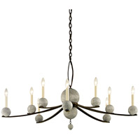 Tallulah 10 Light 48 inch Natural Rust with Raw Concrete Chandelier Ceiling Light