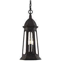 Troy Lighting F6367 Astor 3 Light 9 inch Vintage Iron Outdoor Pendant