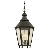 Troy Lighting F6437 Savannah 3 Light 12 inch Vintage Iron Outdoor Pendant