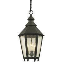 Troy Lighting F6437 Savannah 3 Light 12 inch Vintage Iron Pendant Ceiling Light