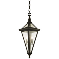 Troy Lighting F6477 Geneva 2 Light 8 inch Vintage Bronze Outdoor Pendant